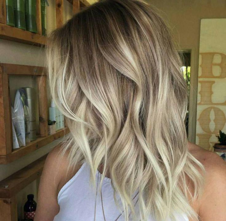 Шатуш на русые волосы средней длины