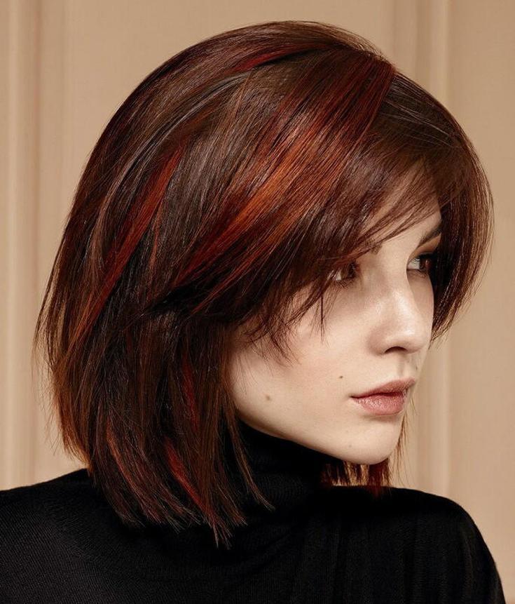 Балаяж на темные волосы каре 180 фото