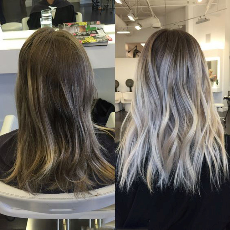 Шатуш окрашивание фото до и после
