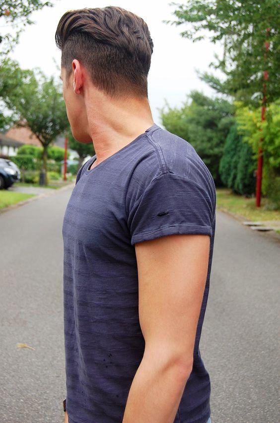 Прически мужские вид сзади
