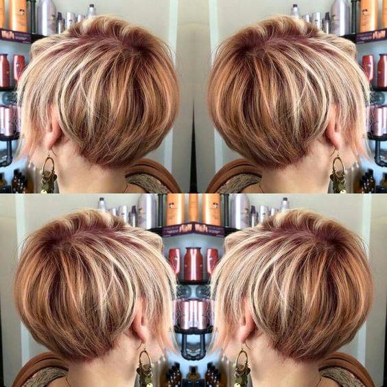 Модное боб каре на короткие волосы