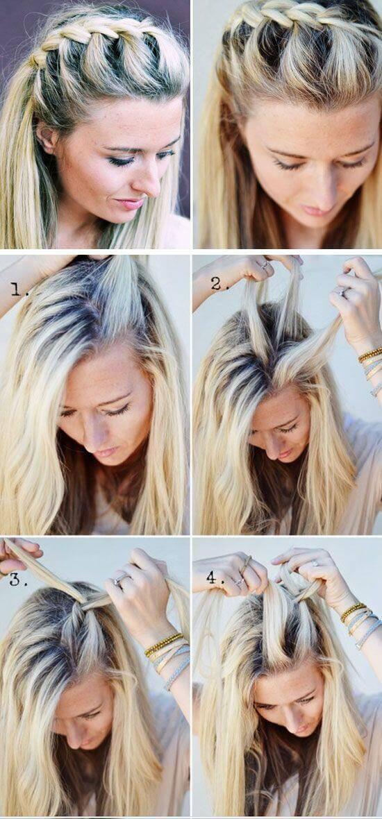 Как сделать косы на распущенными волосами 126