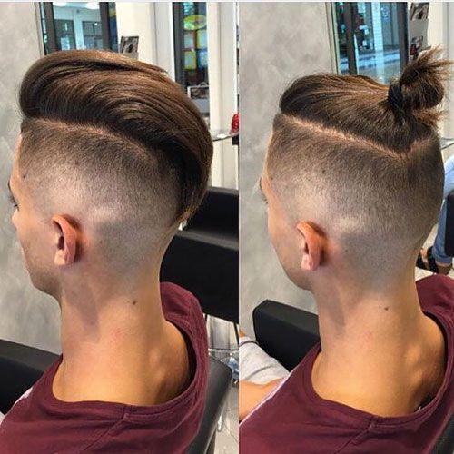 Молодёжные мужские причёски с хвостиком