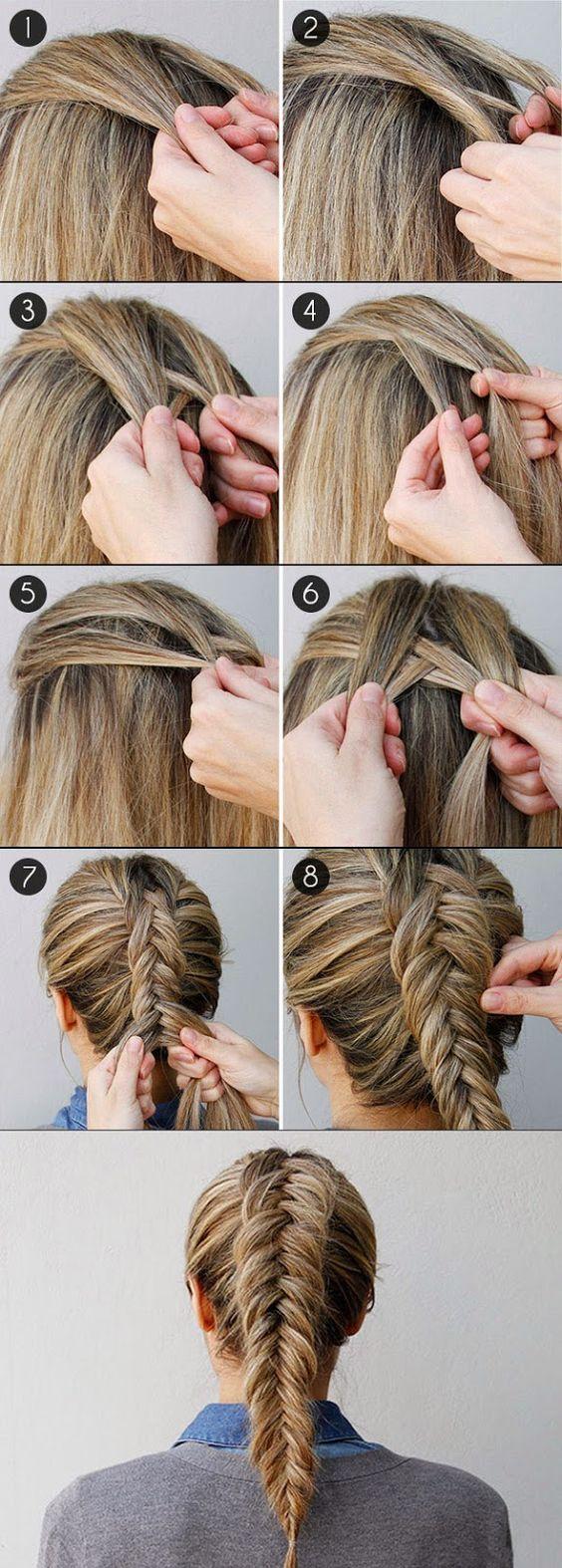 Прическа французская коса пошаговое фото