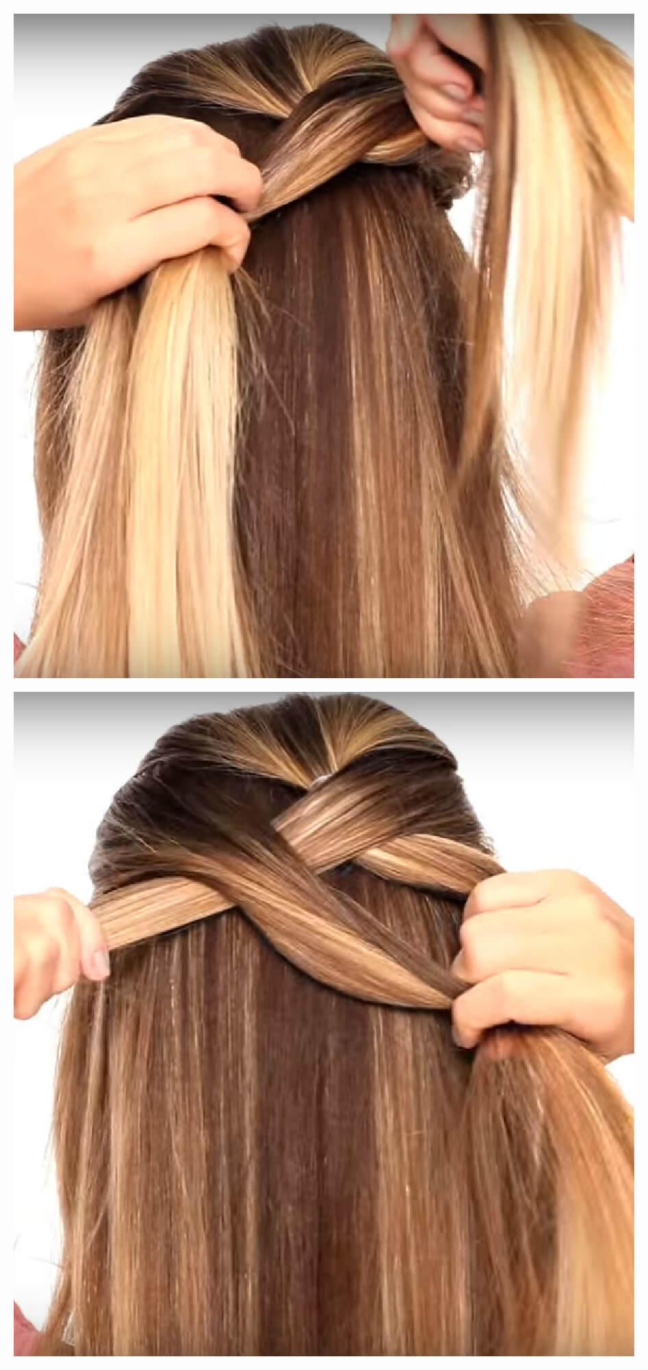 Плетем косы сами себе пошаговые фото
