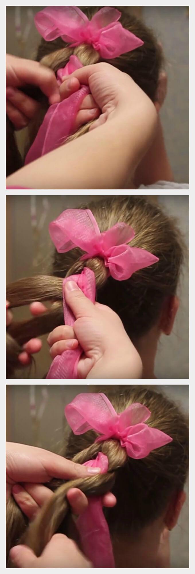 Прически из хвостиков для девочек пошаговое фото