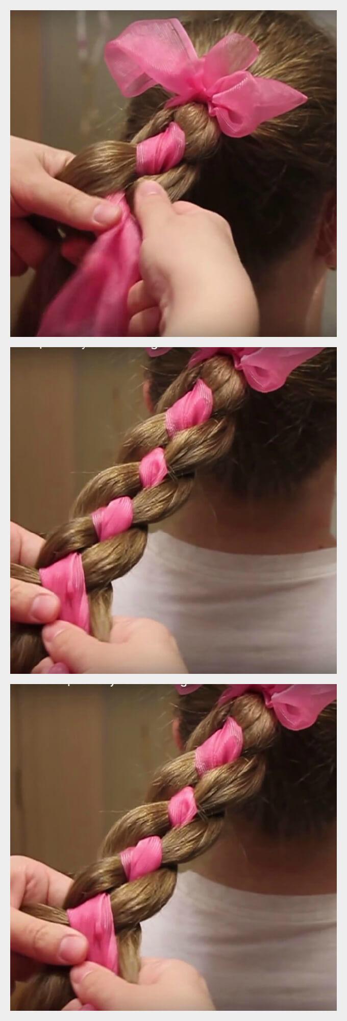 Косы для девочек пошаговое фото на 1 сентября