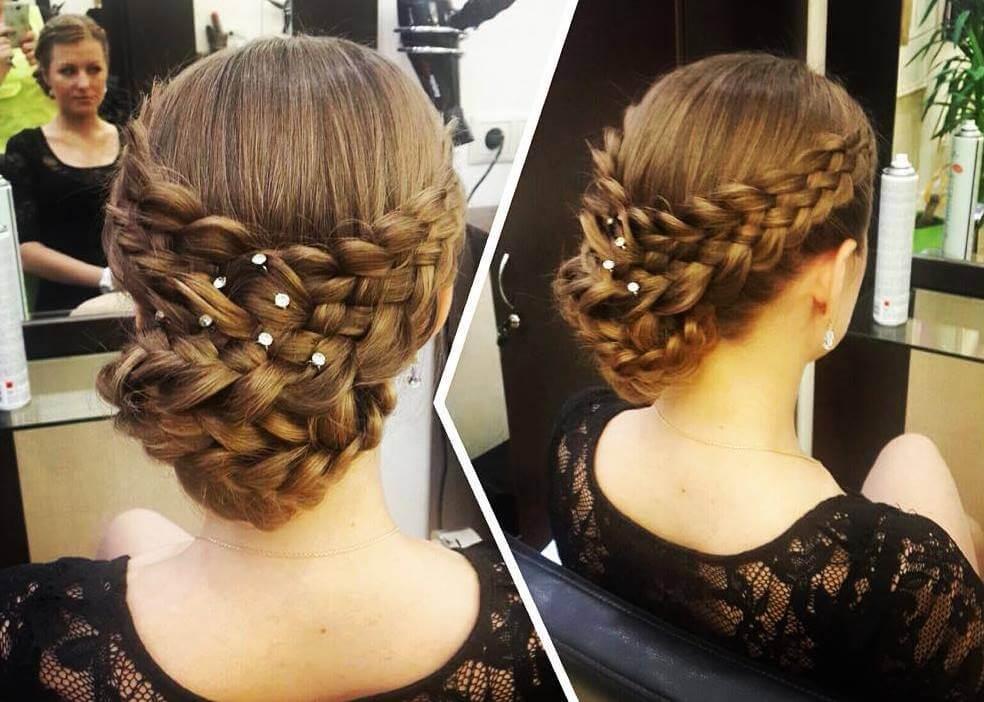 Плетение косичек кругом по голове
