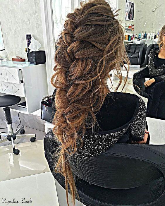 Объемное плетение длинные волосы