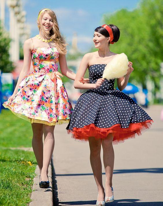стиль ретро фото одежда и прически для женщин