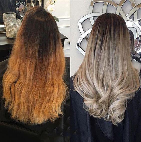 Балаяж на средних волосах фото