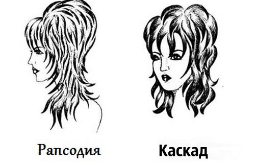 Сравнение стрижек рапсодия и каскад