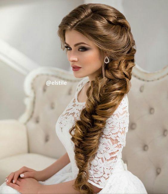 Свадебные прически с косами с