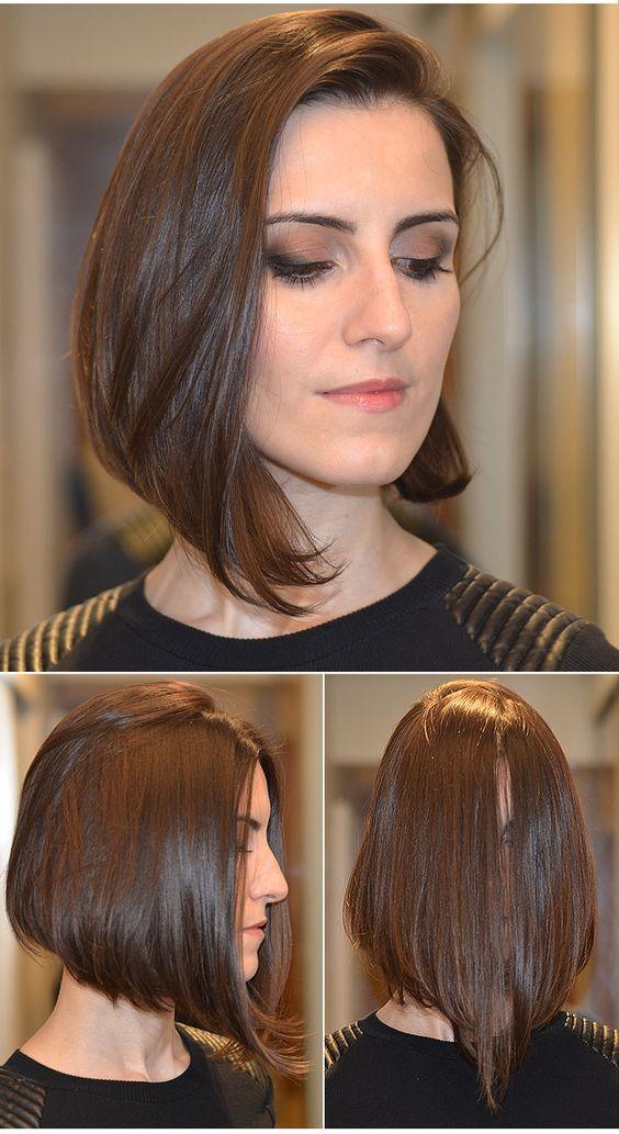 Короткие прически с косыми челками