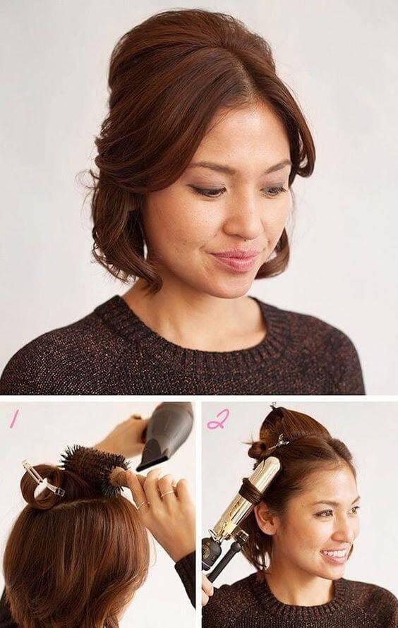 Укладка волос в домашних условиях на тонкие волосы 807