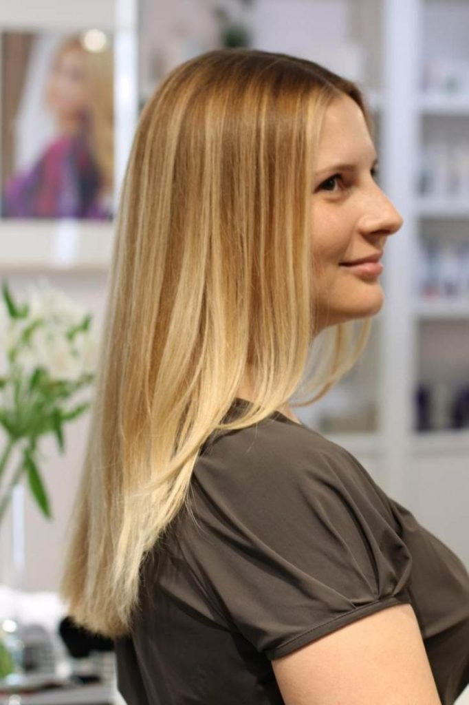 Калифорнийское мелирование на светлые волосы