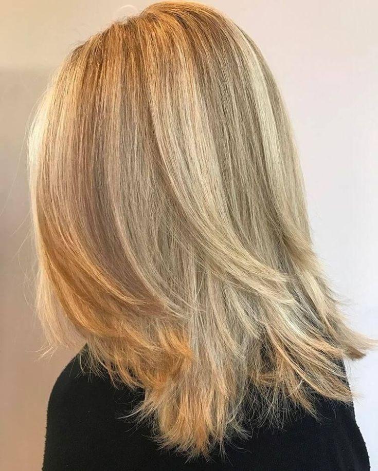 (+135 фото) Градуированный каскад на средние волосы