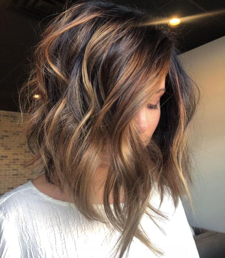 Калифорнийское мелирование на тёмные волосы