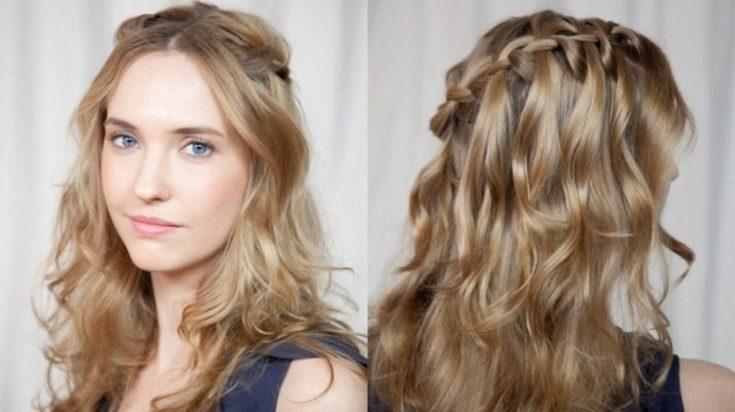 (+230 фото) Плетение косы водопад