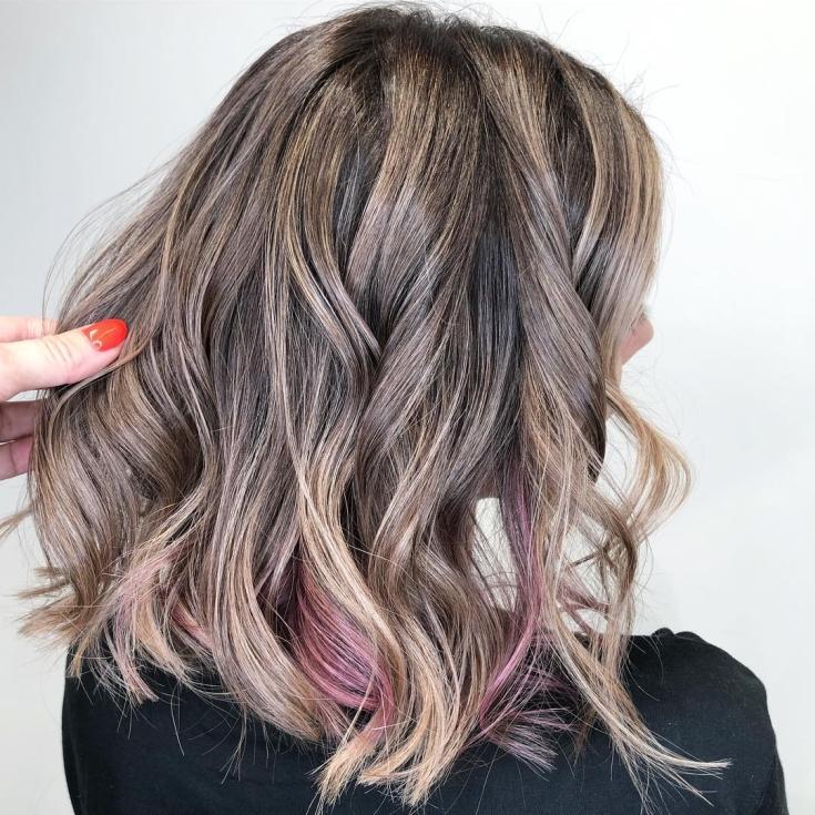 Розово русый цвет волос