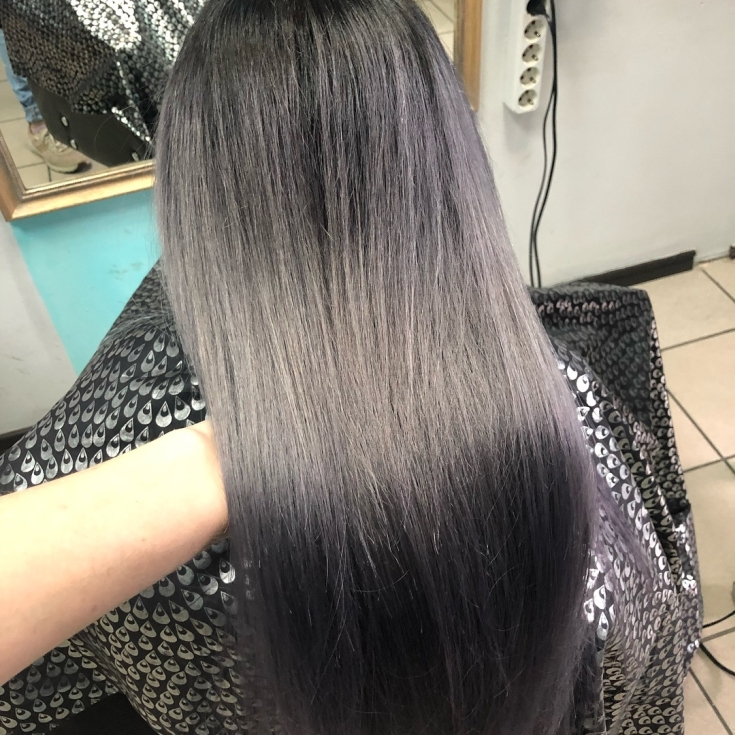 Черный пепельный цвет волос