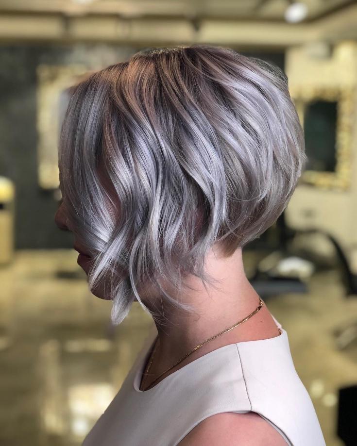 Пепельно фиолетовый цвет волос фото