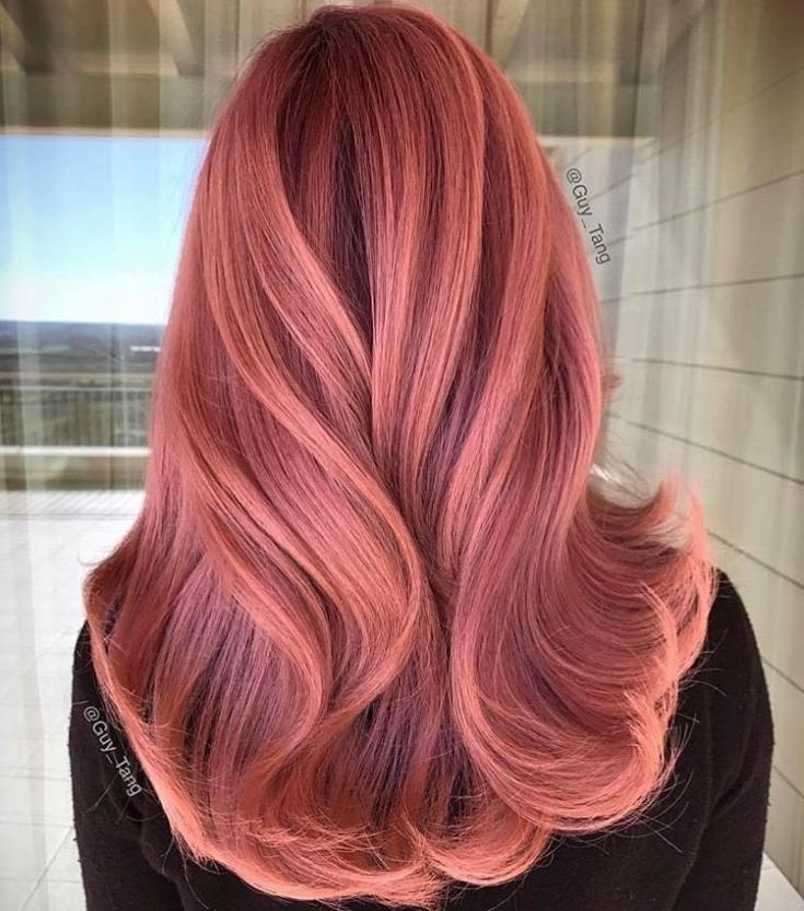Пепельно рыжий цвет волос