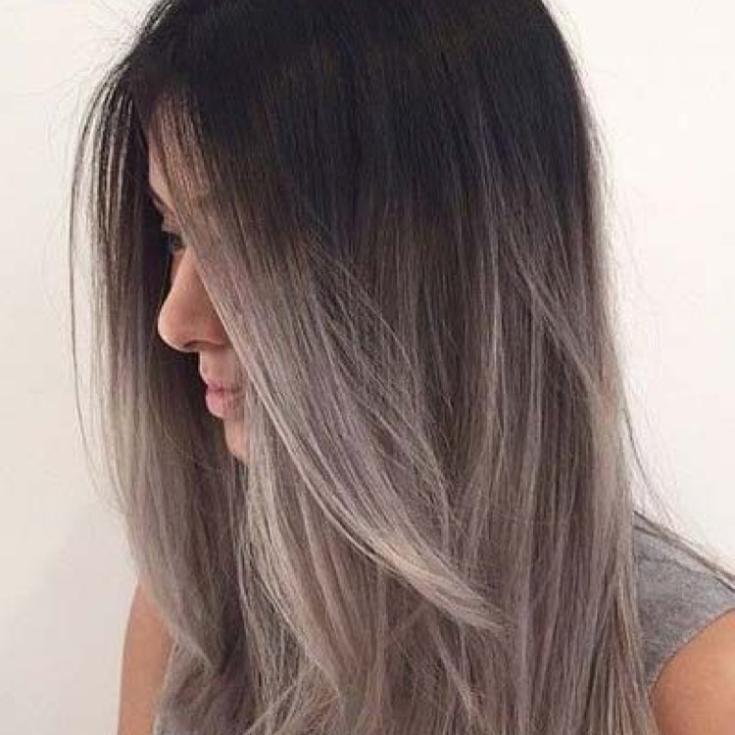 Пепельно-черный цвет волос