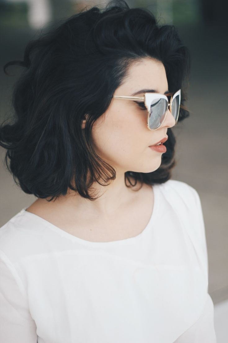 Черный цвет волос на короткие волосы