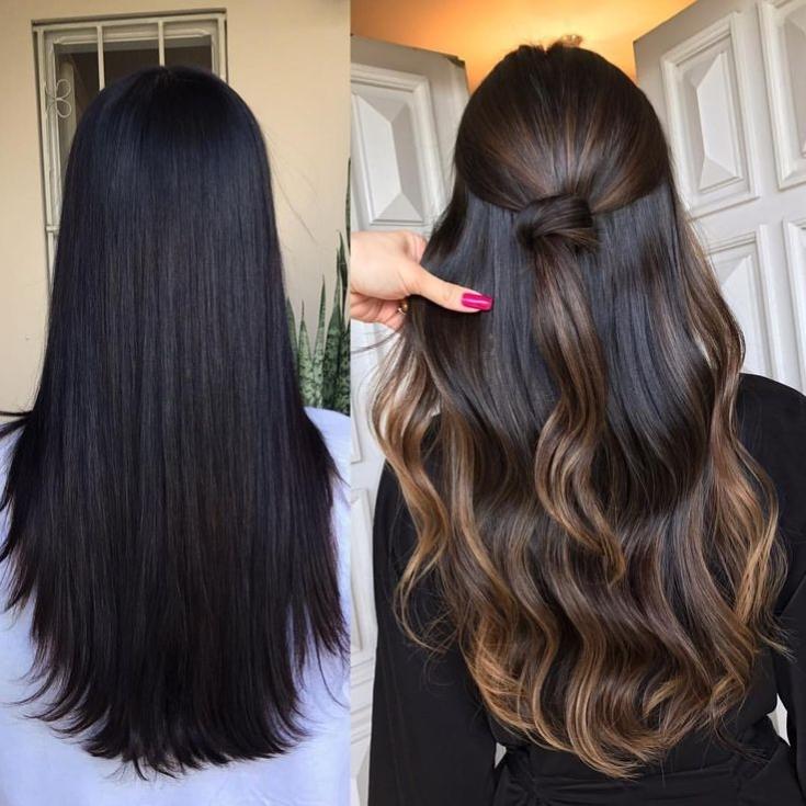 Как выйти из черного цвета волос