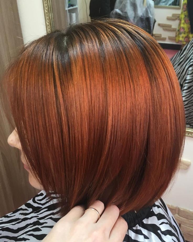 Черно-рыжий цвет волос