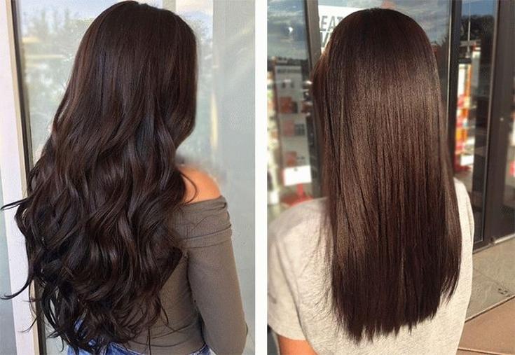 Цвет волос черный шоколад