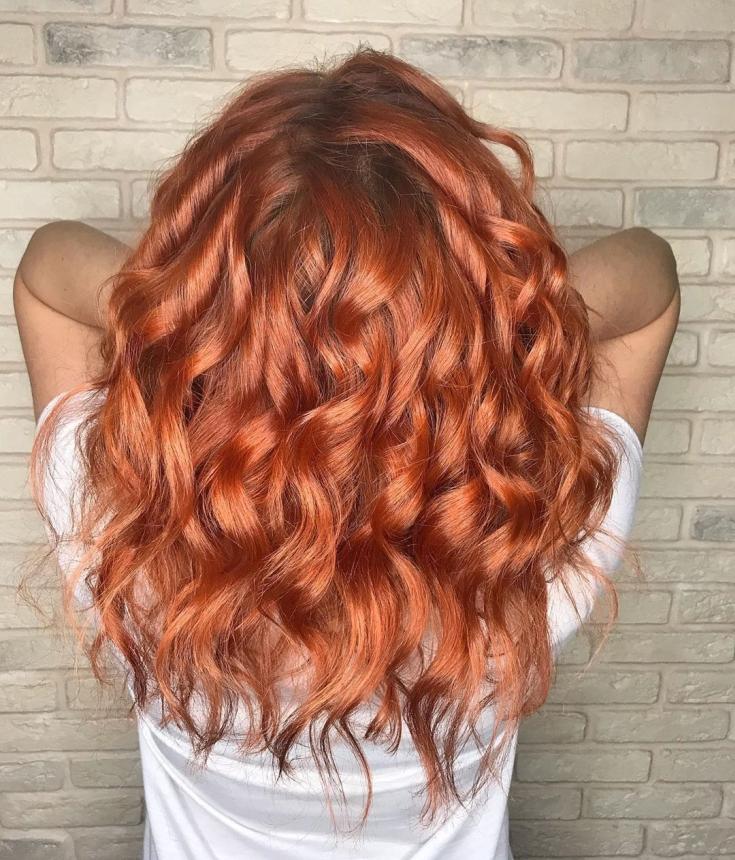 Медно-рыжий цвет волос