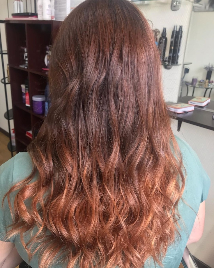Каштаново-рыжий цвет волос