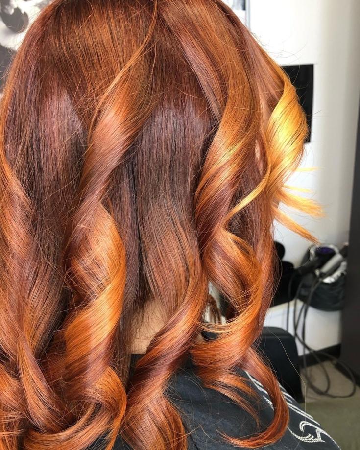 Карамельно-карий цвет волос