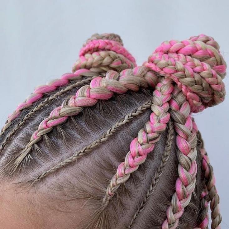 Цвет волос розовый блонд