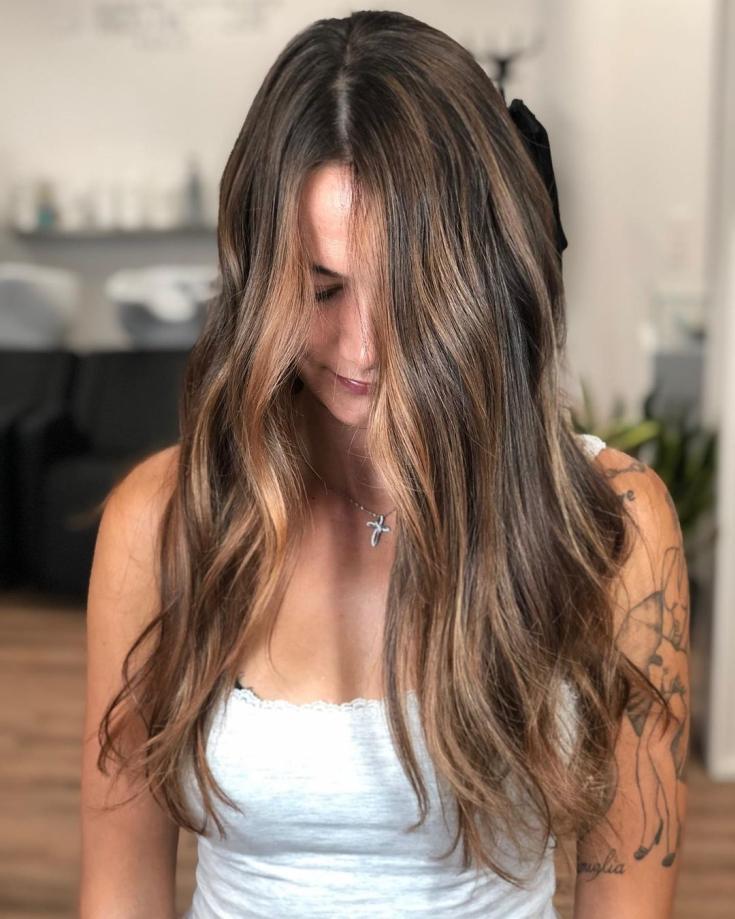 Русо-коричневый цвет волос фото