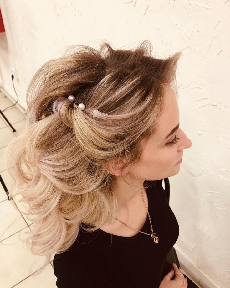 Шикарные свадебные причёски на длинные густые волосы