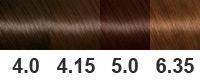 Палитра красок Гарньер по номерам с примерами и фото