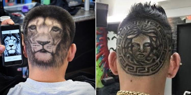 Идеи причесок с рисунками на голове для мальчиков