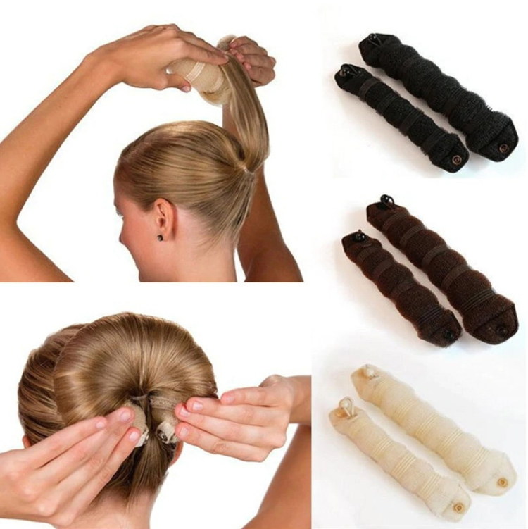 Пучок на длинные волосы своими руками