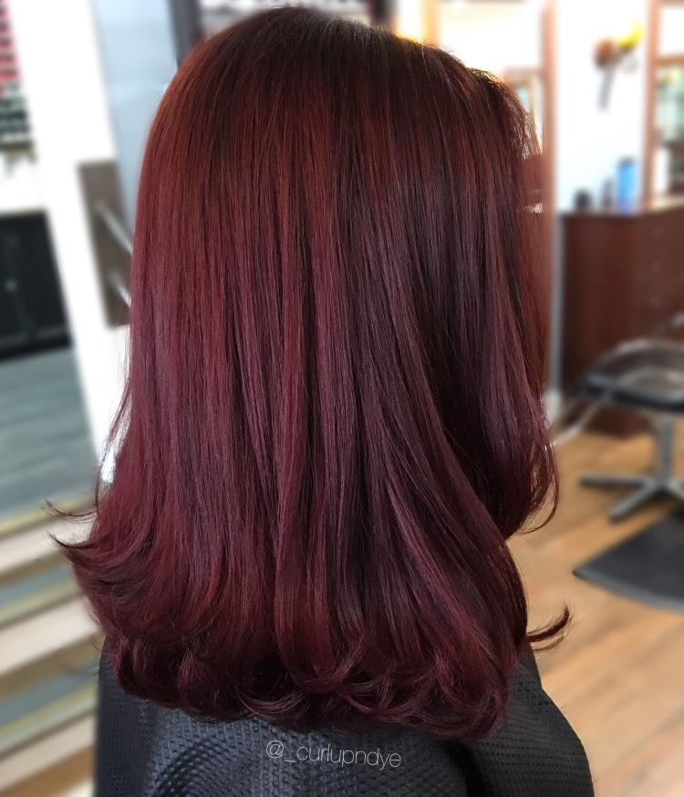 Спелая вишня цвет волос
