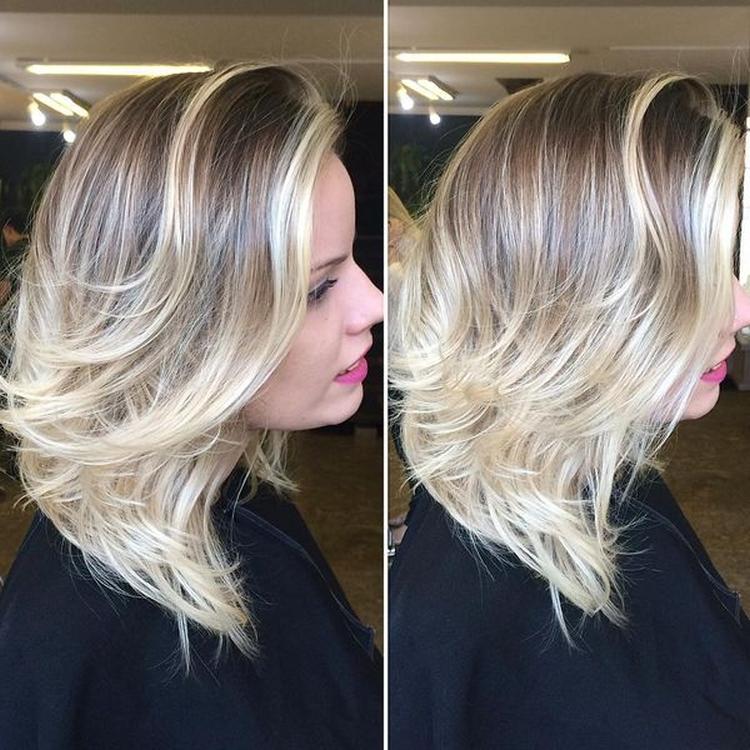 Мелирование волос в два цвета