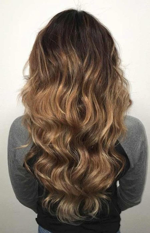 Сложное окрашивание волос для брюнеток фото