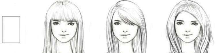 Стрижка для средних волос с челкой