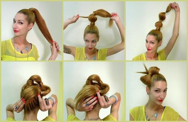 Как сделать из волос бант