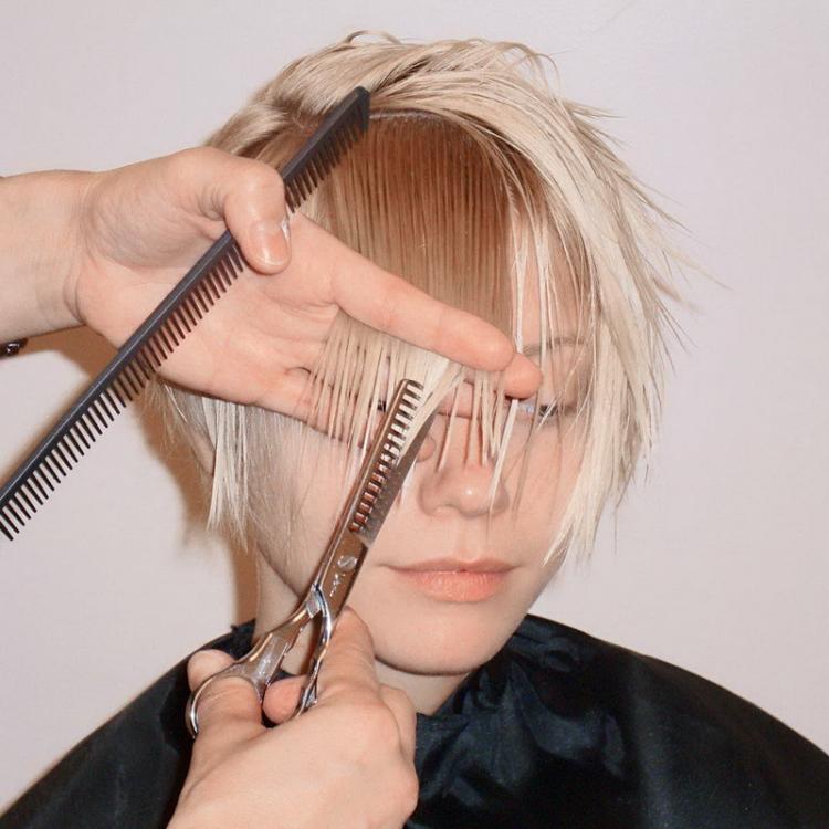 Филеровка волос до и после