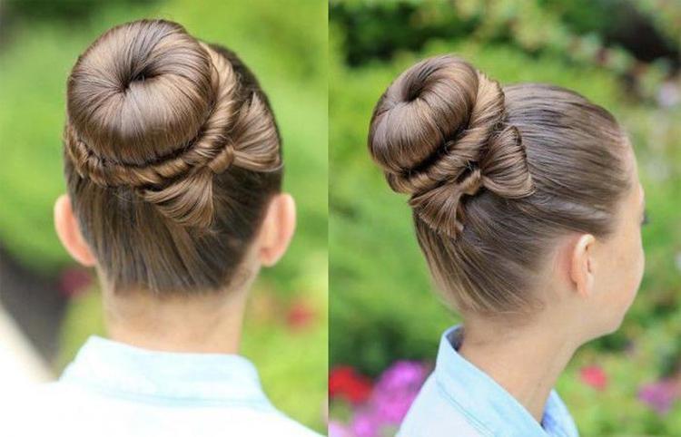 Как сделать шишку из волос