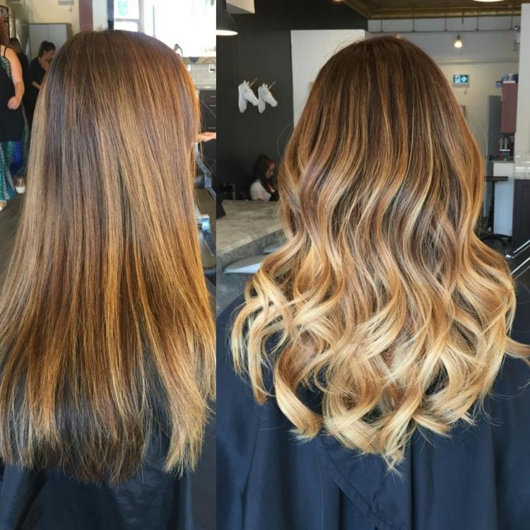 Тонирование волос фото до и после