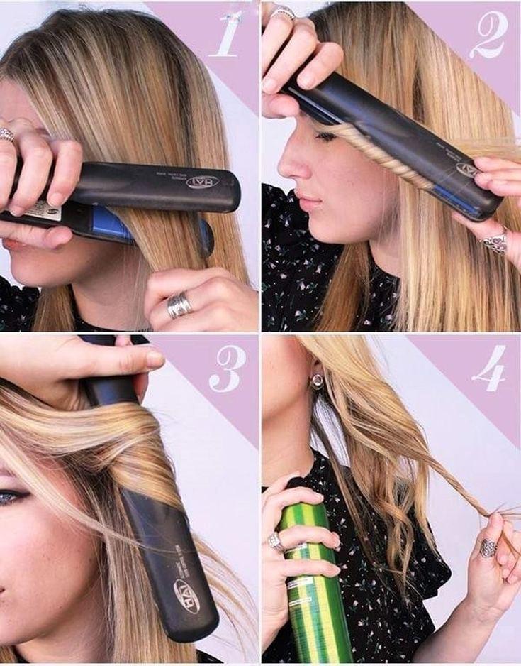 Как накрутить волосы на утюжки